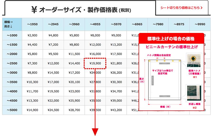 製作価格(税別)