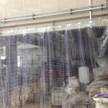 ワイヤー式ビニールカーテン