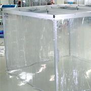 組立式・固定式・可動式ビニールブースを使用した間仕切りシート