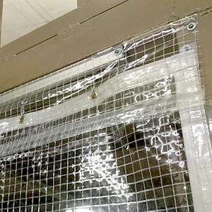 防音カーテンのフリル加工