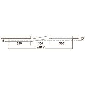 D40カーテン交叉レール