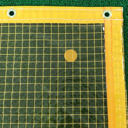 防虫(薄手)の糸入り透明ビニールカーテン(VP-350B)アップ詳細