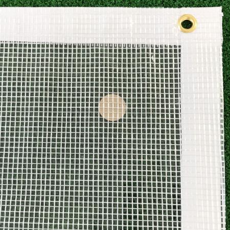 耐候(軽量)の糸入り透明ビニールカーテン(VP-380A)アップ画像