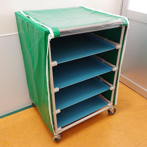 作業棚の防塵ビニールカバーを製作
