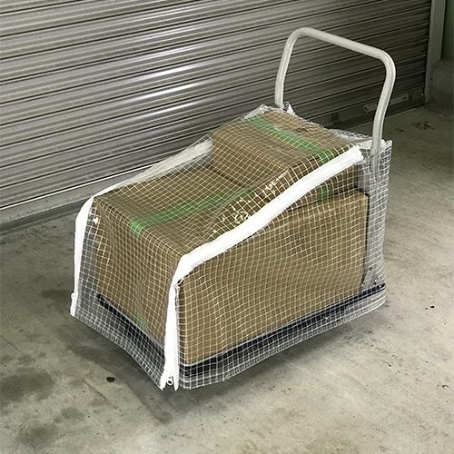 運搬用台車の防水ビニールカバーを製作
