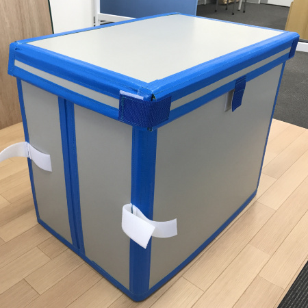 ダンプラ素材のボックスカバーを製作