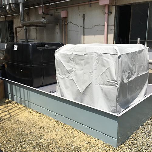 青森県八戸市|製作事例|大型雨よけカバー