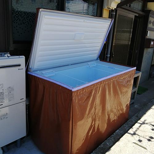 愛知県蒲郡市|製作事例|業務用冷凍庫カバー