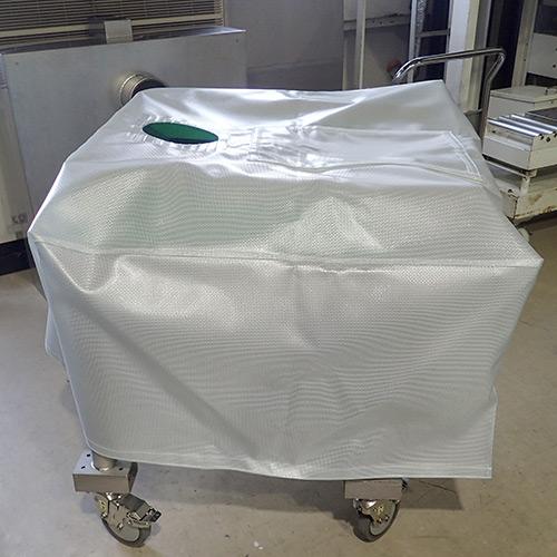 兵庫県西宮市|製作事例|振動ふるい機カバー