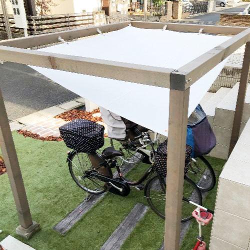 大阪府茨木市|製作事例|雨よけテント(駐輪場)