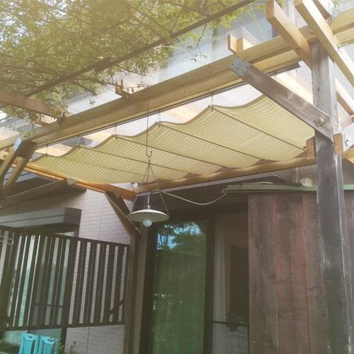 福井県坂井市|製作事例|日よけシェード(掃き出し窓)