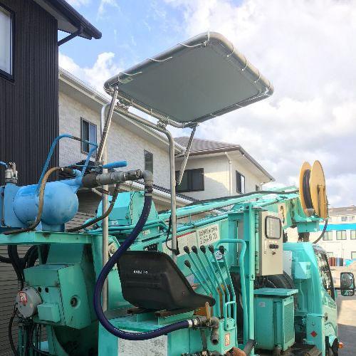 愛媛県松山市|製作事例|日よけテント(工事用車両)