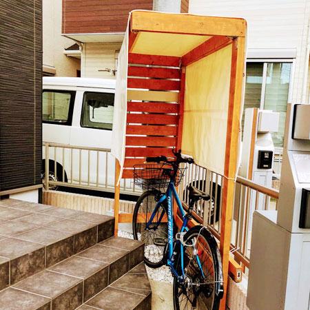 埼玉県さいたま市|製作事例|雨よけテント(駐輪場)