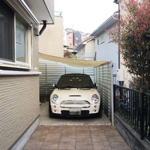 神奈川県横浜市|製作事例|雨よけテント(駐車場)