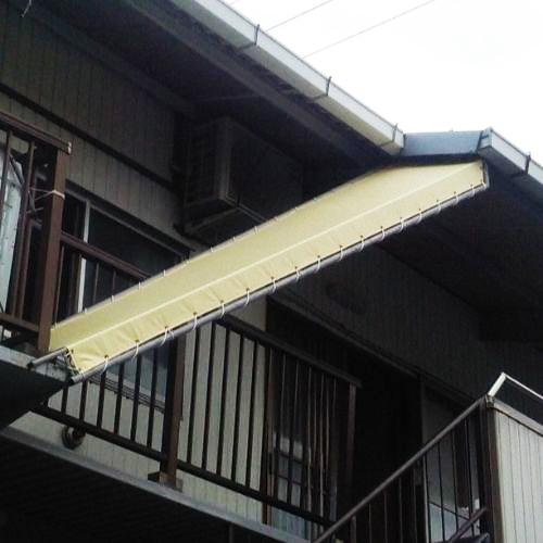 愛知県名古屋市|製作事例|防炎・防水テント(雨よけテント)