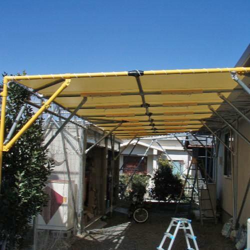 愛知県あま市|製作事例|防炎・防水テント(住宅)