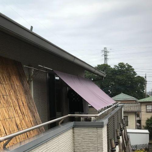埼玉県鴻巣市|製作事例|日よけシェード(ベランダ)