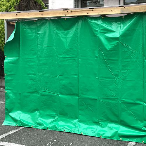 静岡県静岡市|納入事例|日よけ・雨除けテントシート(物置)