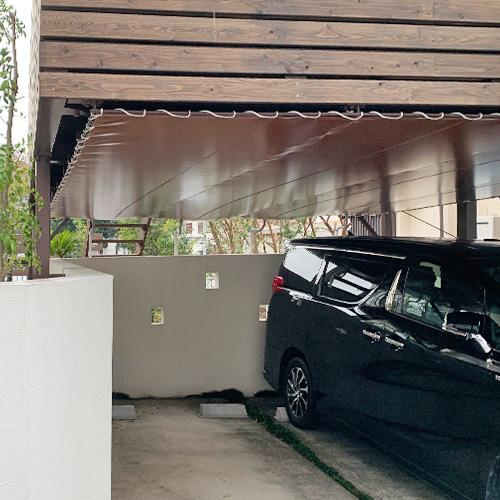 東京都世田谷区|製作事例|雨除けテントシート(駐車場)