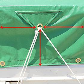 トラックシート三角ピケット採寸方法